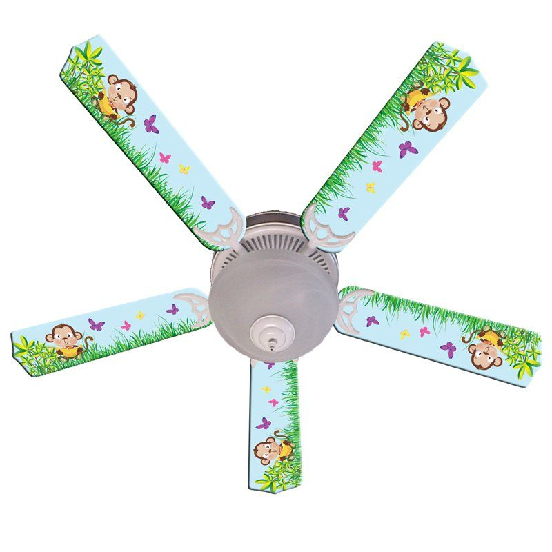 Ceiling Fan Designers Baby Monkey Mischief With Banana Indoor Ceiling Fan    42FAN IMA