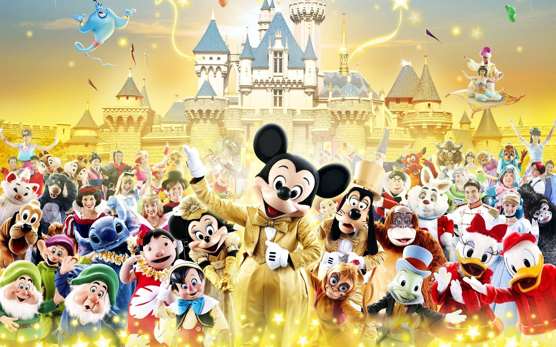 Disney Characters Hd Wallpaper