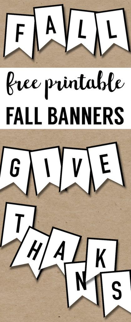 This is a picture of Fall Banner Printable throughout diy