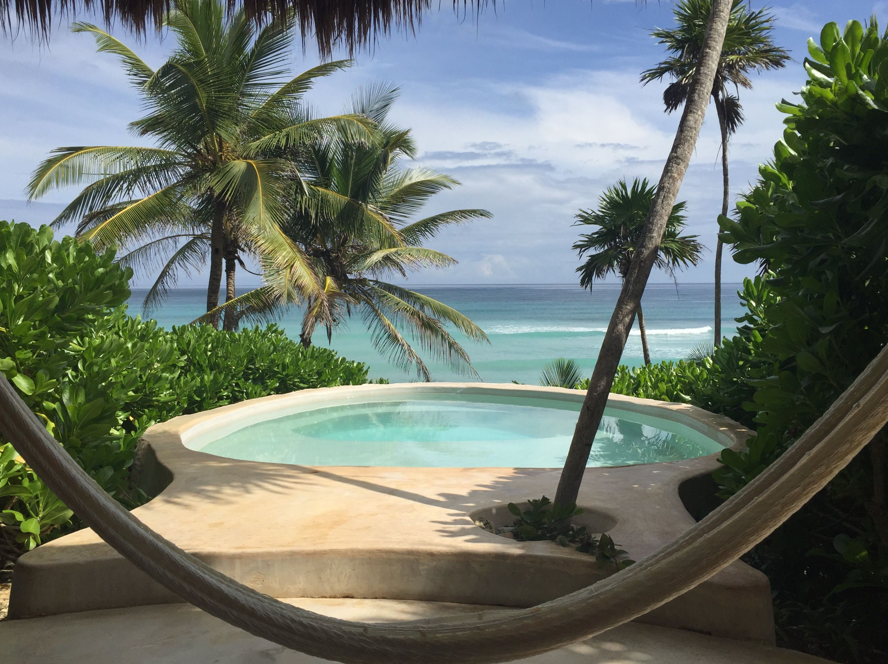 Private Beach Front Bungalow View At Papaya Playa Project Tulum