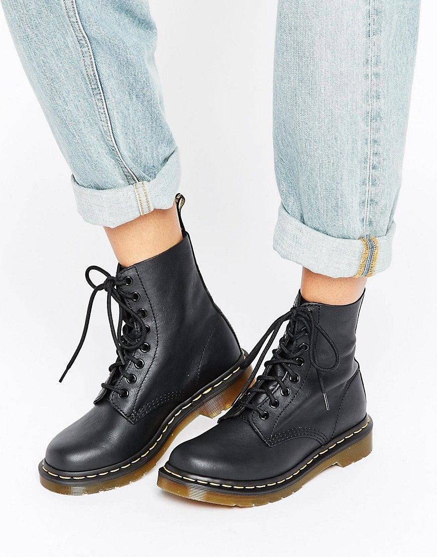 36150391661543 Dr Martens Pascal 8 Eye Boots - Black