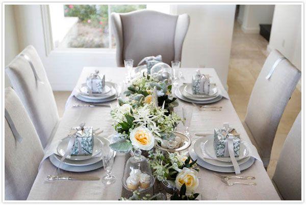 Sage And Silver Table Setting For Christmas Christmas Table