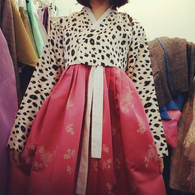 #금의재 #한복 #호피 #한스타그램 #연말준비  한복은 사랑이지 ;->