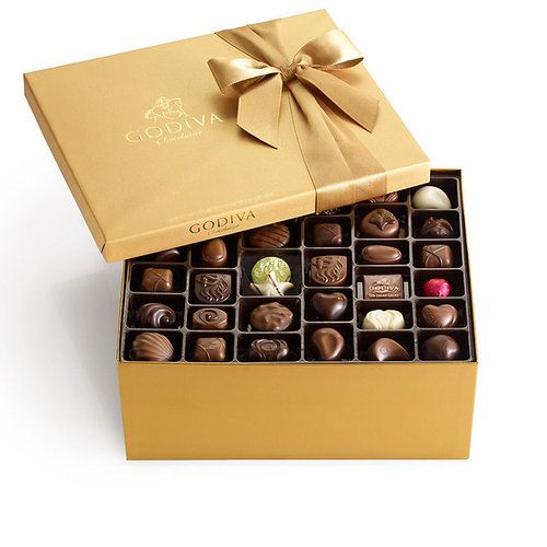 GODIVA Assorted Chocolate Gold Gift Box Classic Ribbon 140 Pc - $129.99 - FREE SHIPPING - WAS $175!