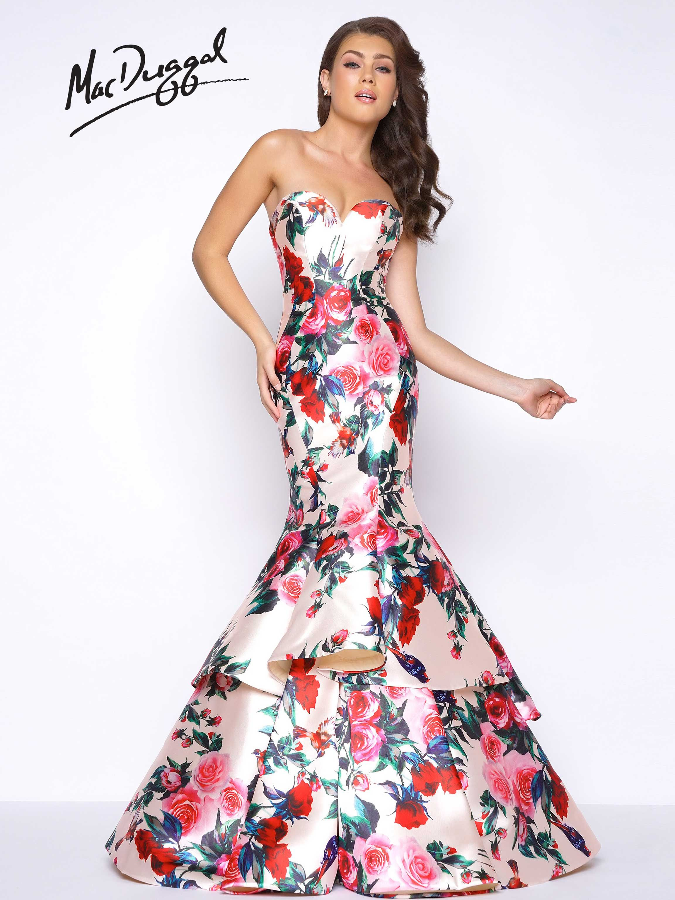 Back Open strapless dress pictures catalog photo