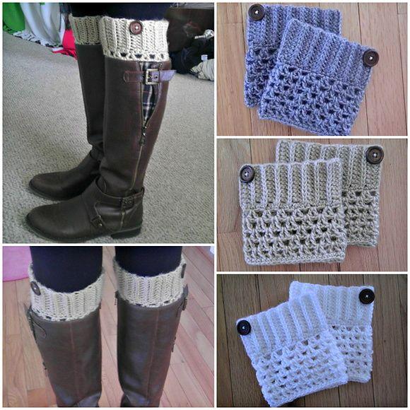 Boot Cuff de Croche | Acessórios | Pinterest | Häkeln und Stricken