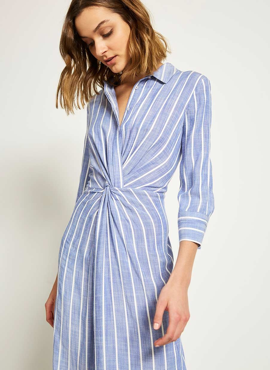 f1bc56979a37 Stripe Twist Front Shirt Dress in 2019 | Lovely Things | Dresses ...