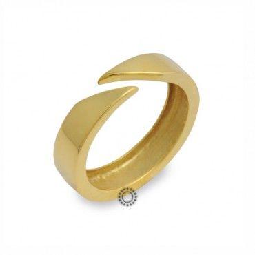 Μοντέρνο minimal δαχτυλίδι κίτρινο χρυσό Κ14 χωρίς πέτρες σε γυαλιστερό  φινίρισμα  amp  ανοιχτό από την 108709d4fcb