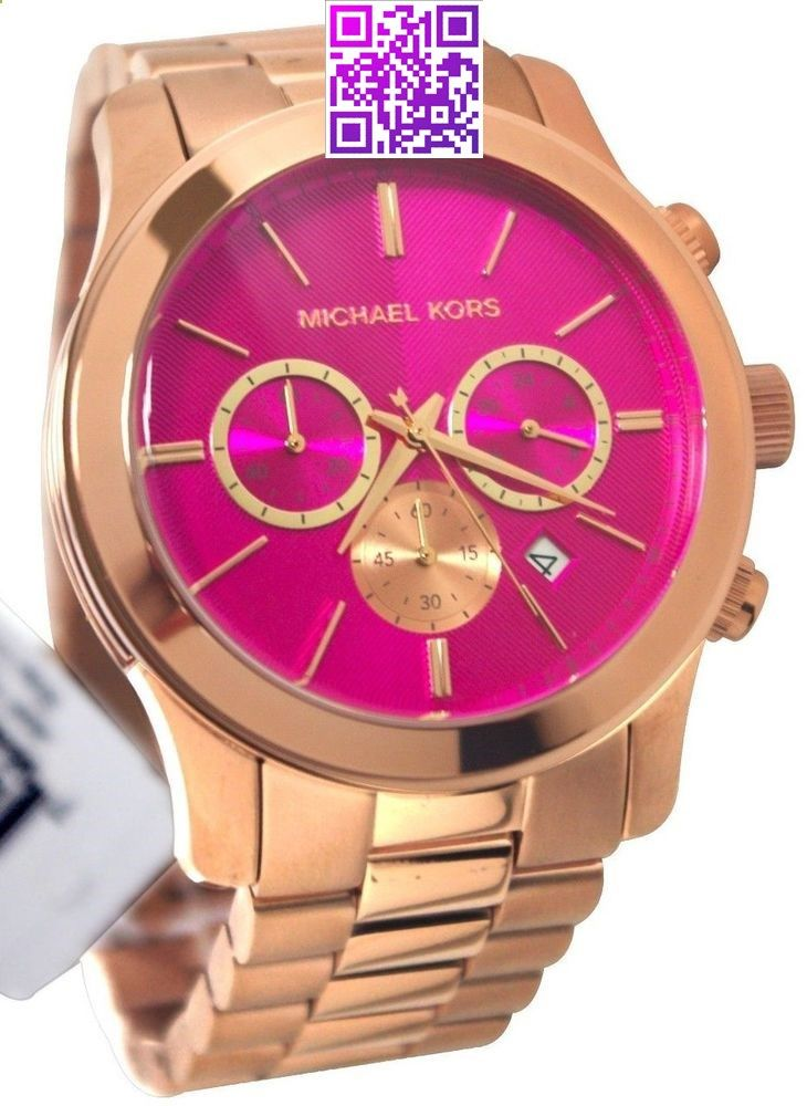 7844d18eae04 MICHAEL KORS LADIES OVER SIZED PINK 36MM ROSE GOLD BRACELET CHRONO WATCH  MK5931  MichaelKors  Fashion