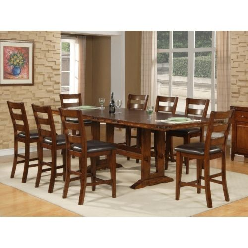 Deluca Gathering Table And 4 Counterstool At Hom Furniture