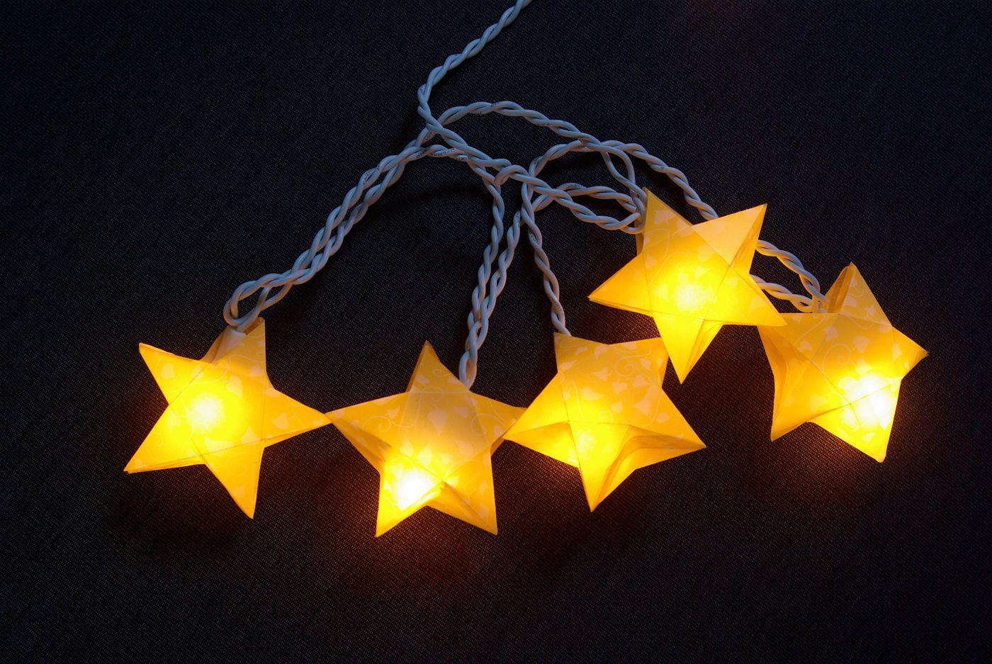 origami sterne 3d falten faltanleitung lichterkette basteln sterne