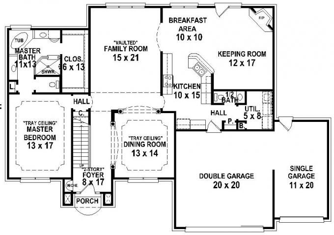 653762 French Country 4 Bedroom 3 5 Bath House Plan