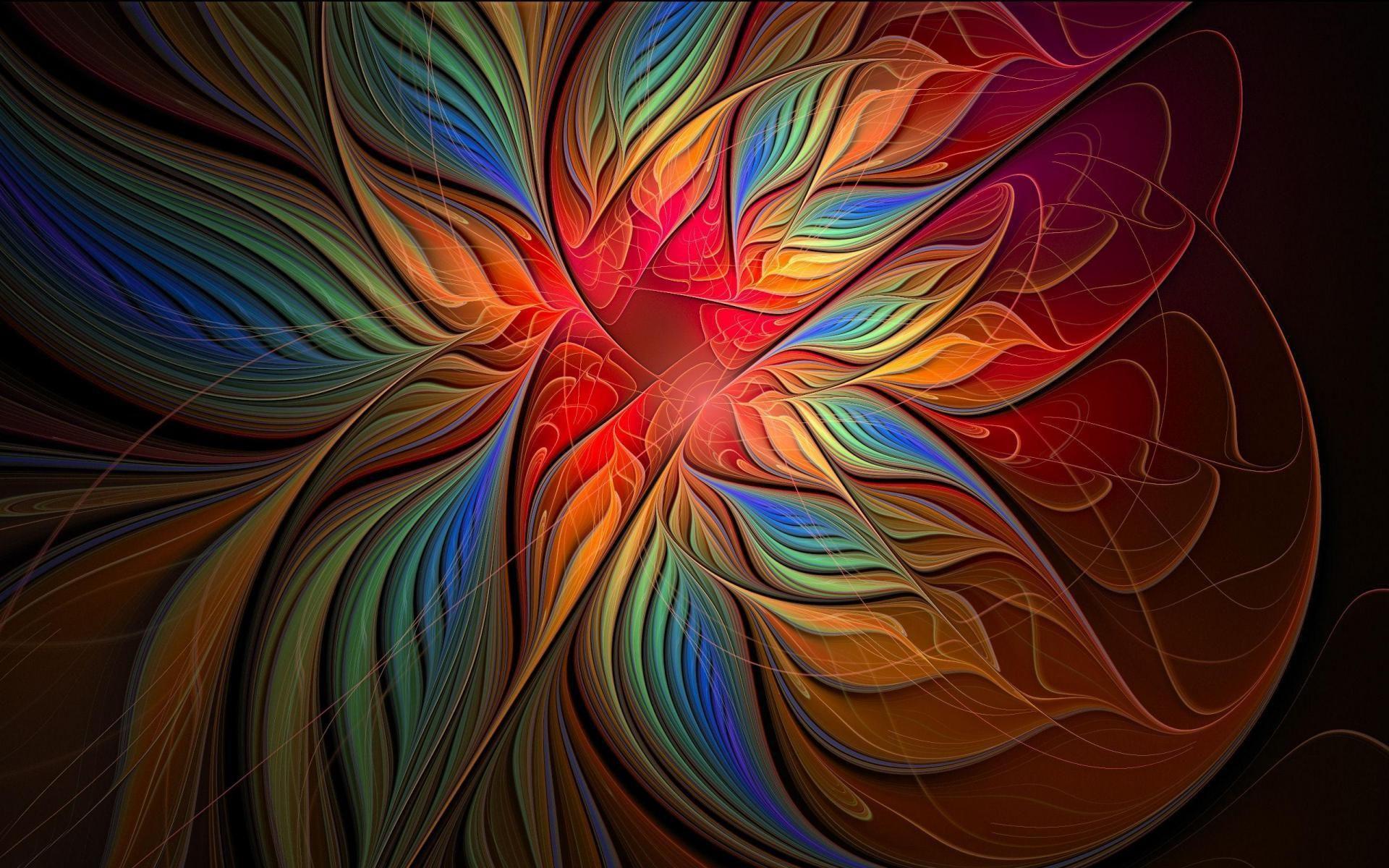 fractal roses | Fractal Flowers Background HD