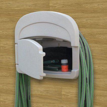 Manguera de pared soporte plástico verde manguera soporte de pared manguera de jardín
