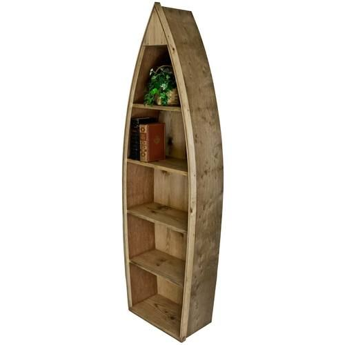 For Wooden Boat Bookcase Shaped Furniture Handcrafted From Solid Pine And