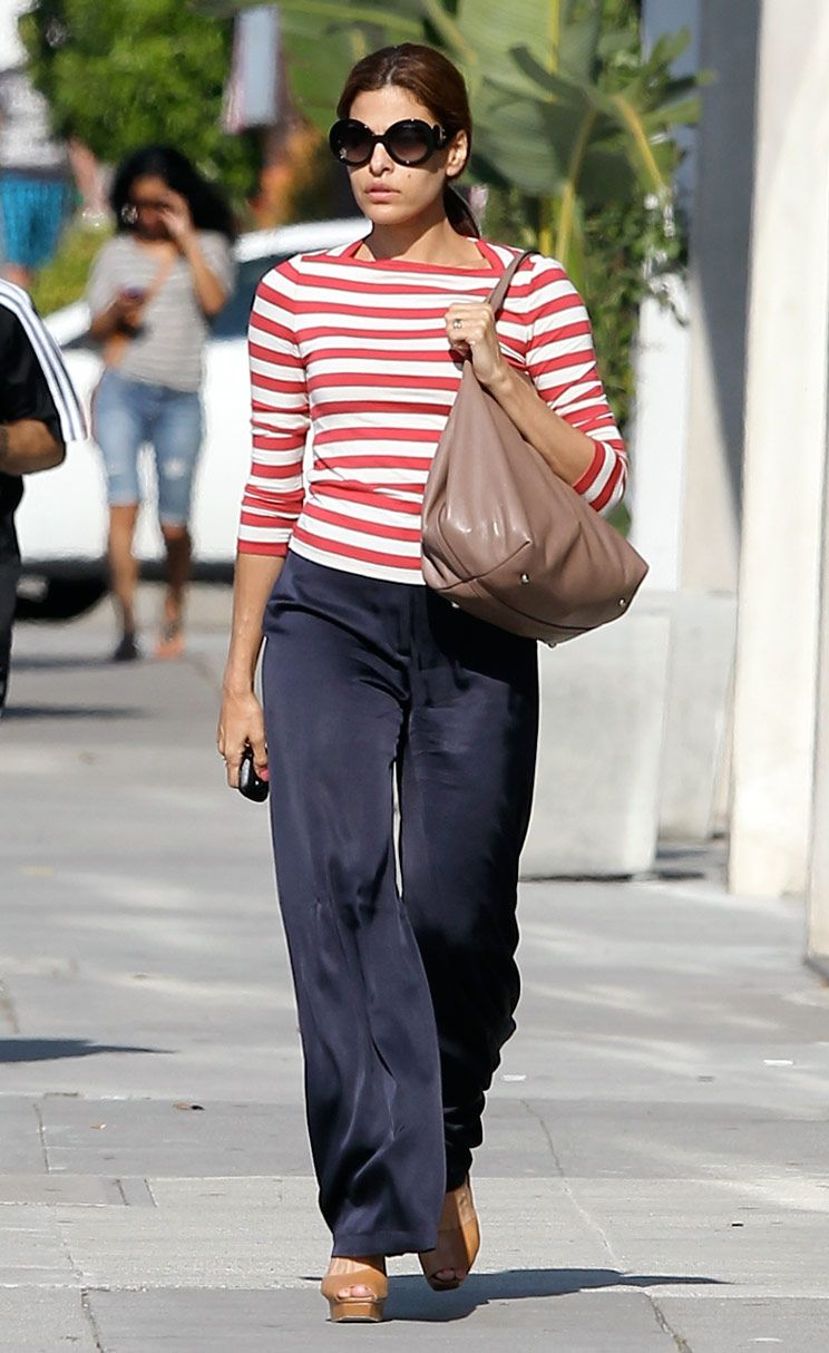 Eva looks mendes casually chic in thakoon pictures