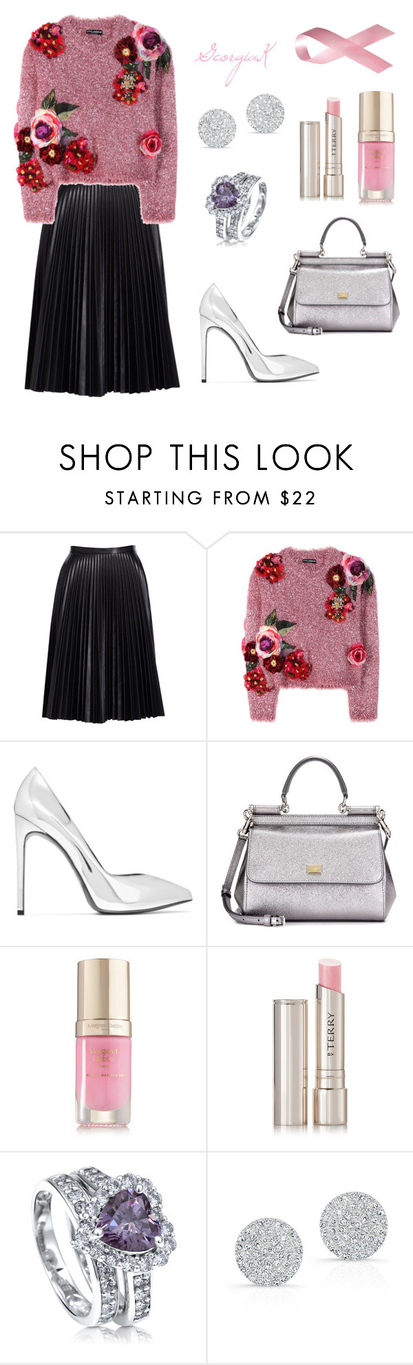 """""""GeorgiaK #92"""" by georgia-koumantzia ❤ liked on Polyvore featuring Cusp by Neiman Marcus, Dolce&Gabbana, Yves Saint Laurent, Margaret Dabbs, By Terry, BERRICLE and Anne Sisteron"""