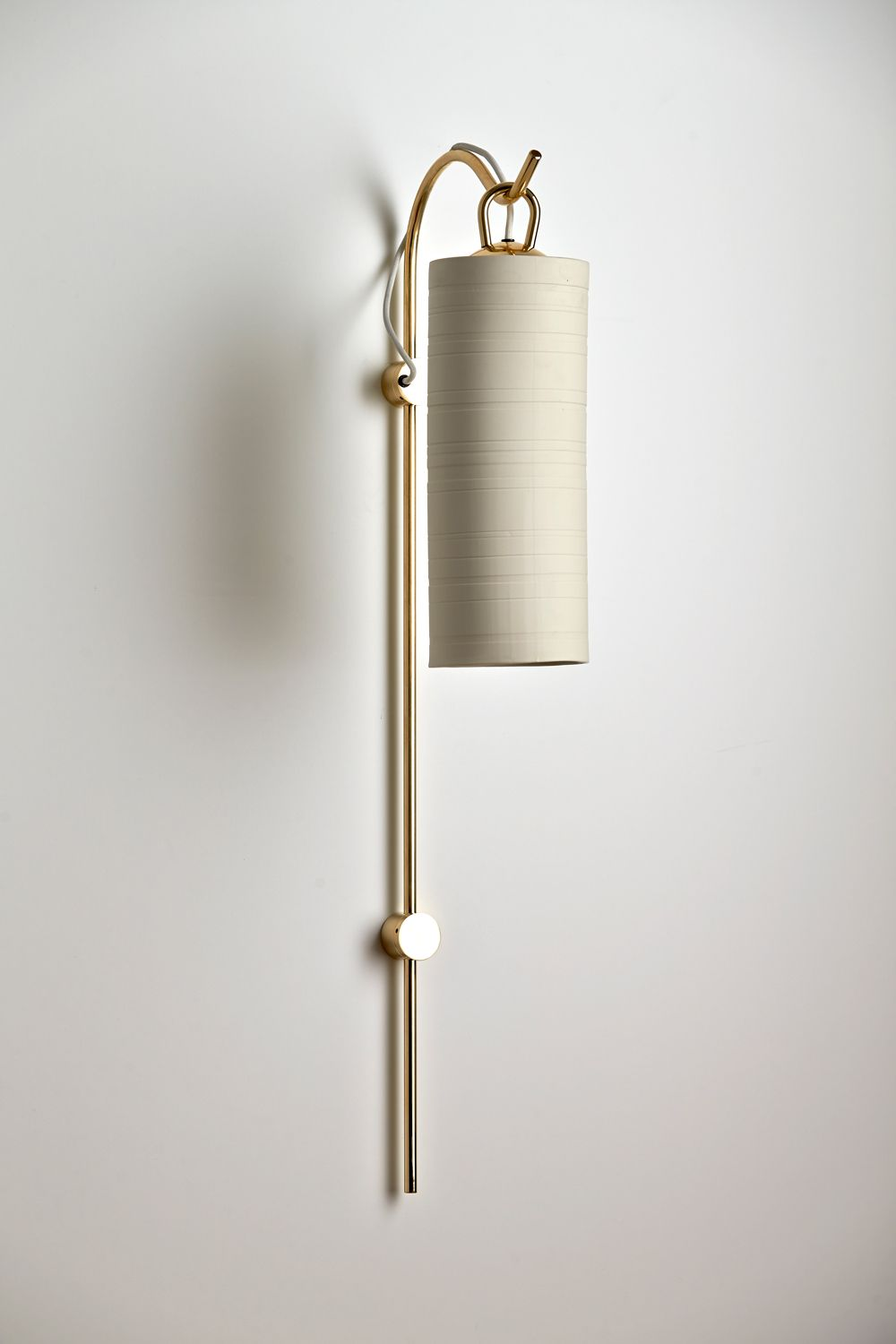 Staff Wall Sconce With Etch Banded