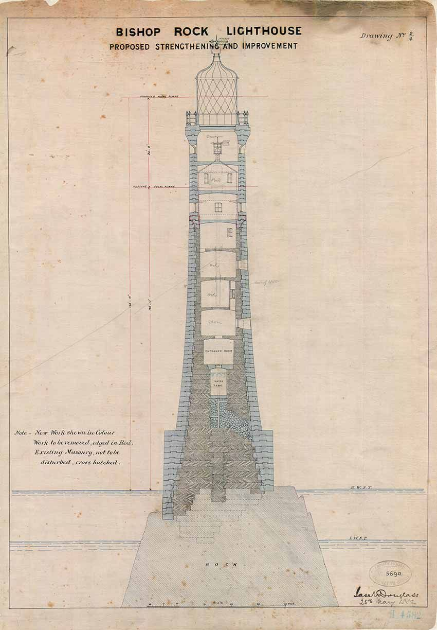 The Plans For The Third Bishop Rock Lighthouse The First Had Been Swept Clean Off The Rock Before They Had E Lighthouse Print Lighthouse Beautiful Lighthouse