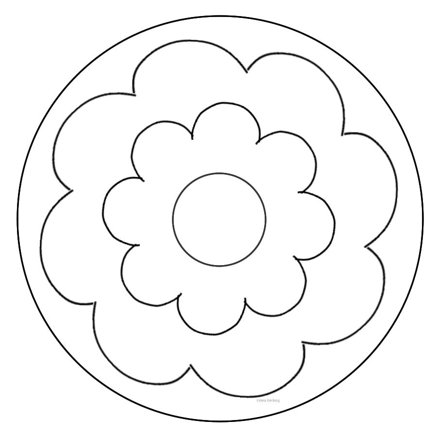 Resultado de imagen de mandalas faciles craft crafts art - Mandala facile ...