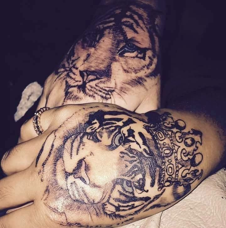 King And Queen Tiger Tattoos Couples Tattoo Follow Me