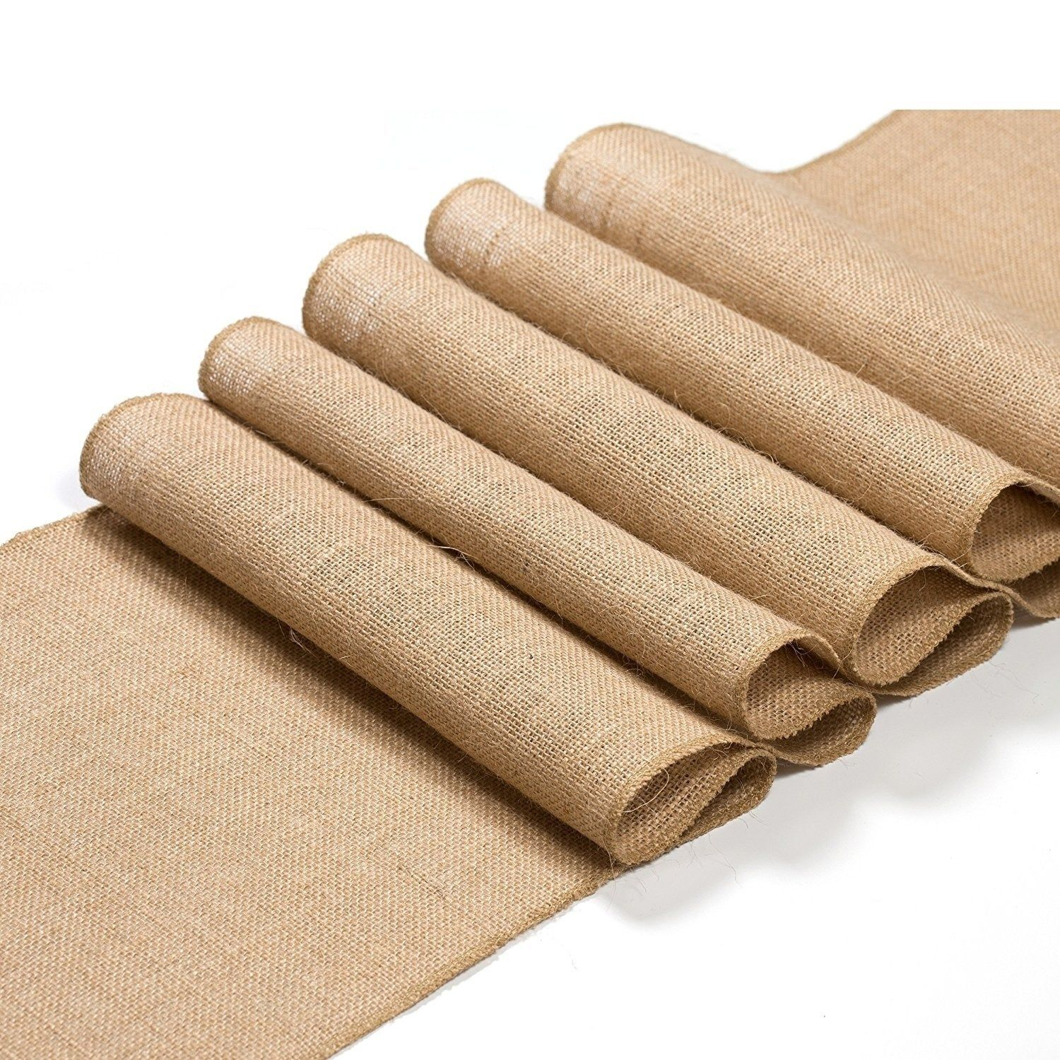 Burlap table runner 12x108 inches long roll true 100