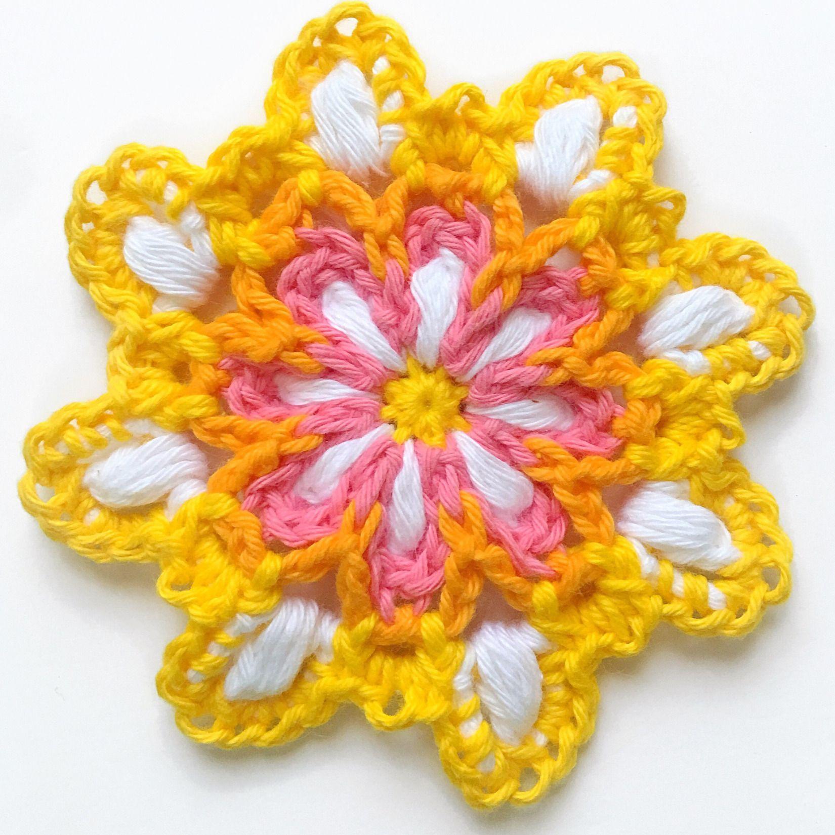 Crochet pattern: Vintage Rainbow Mandala   Crochet ...