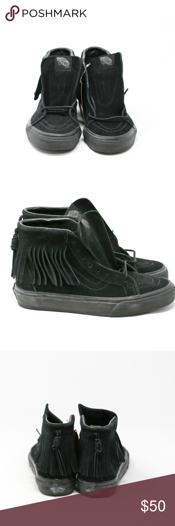 2e2613f2b3 Vans Sk8-Hi Moc Suede High-Top Shoes Vans - Sk8-Hi Moc Suede - Black Black  - Men U.S. Size 3.5 Women U.S. Size 5.0 (WITH BOX) Suede Rubber sole Shaft  ...