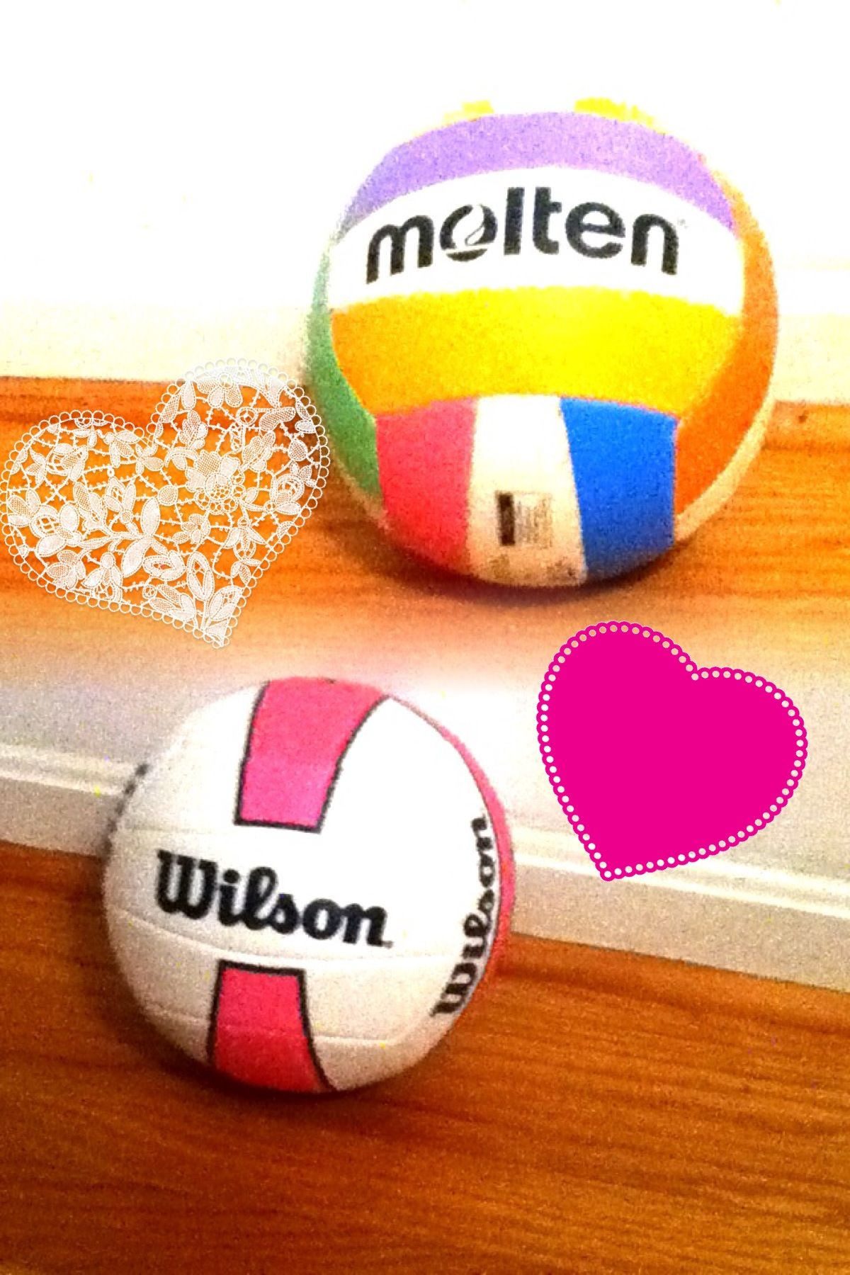 The Two Best Volleyball Brands In Love 3 Molten Usa Wilson Avp Volleyball Two By Two Soccer Ball