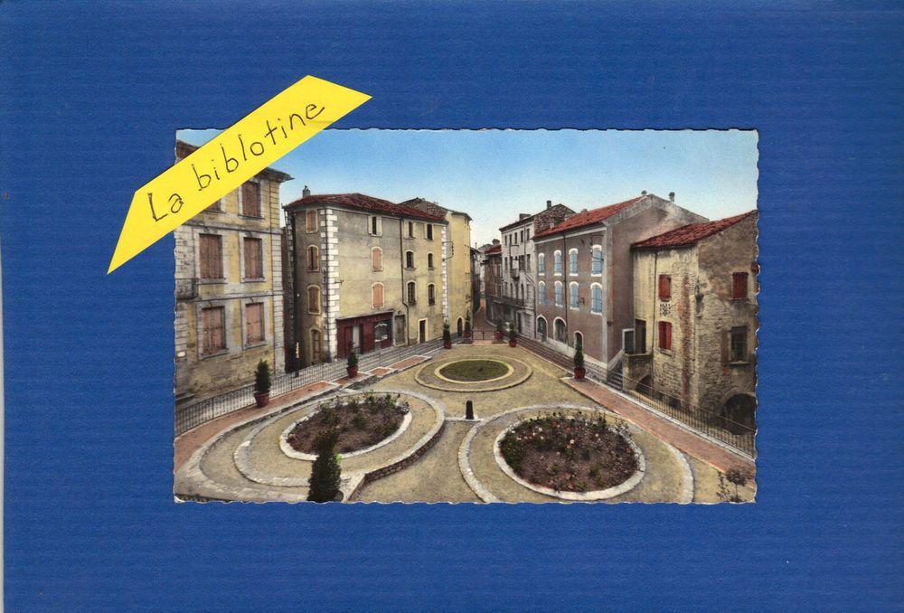CPA - JOYEUSE (07) - PLACE DE L EGLISE ET GRANDE RUE
