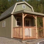 Building a Tuff Shed Home,would make a cute cabin for those