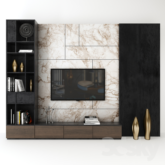 3d models: Other - Tv wall set_ 03 #tv unit design