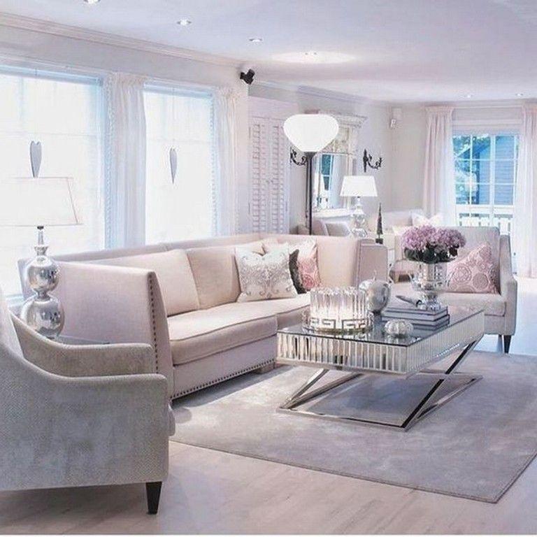 Feminine Living Room Ideas: 55+ Luxury Feminine Living Rooms Decoration Ideas