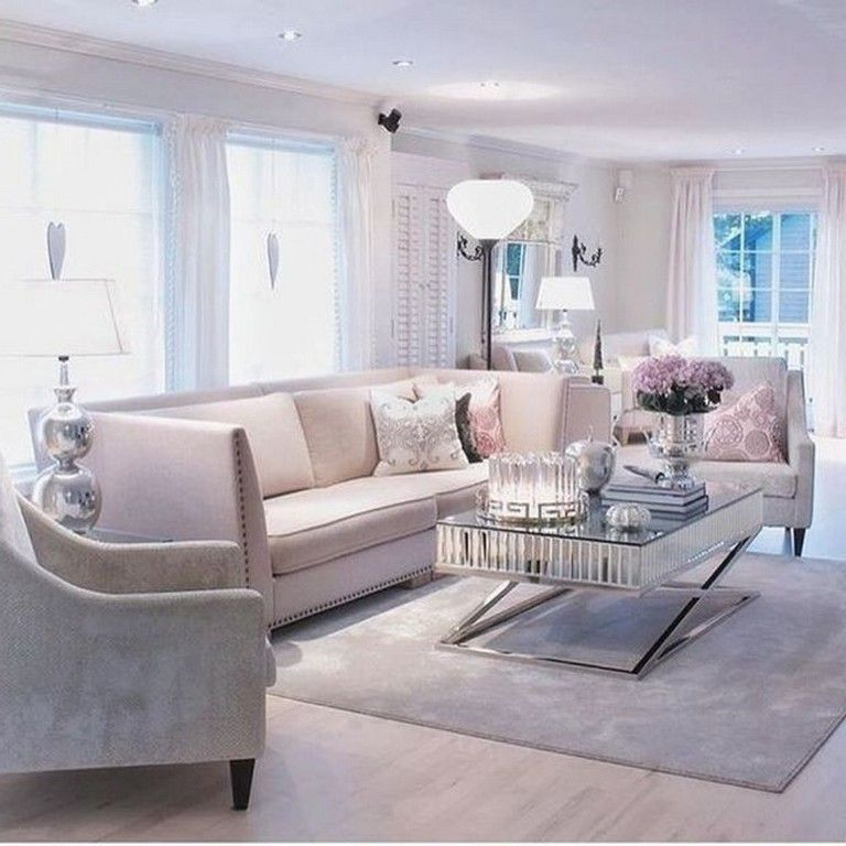 55 Luxury Feminine Living Rooms Decoration Ideas Feminine Livingroomdecor Livingroomdecorideas Feminine Living Room Romantic Living Room Elegant Living