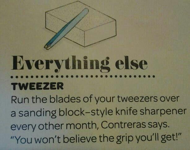 Sharp Tweezer Tip