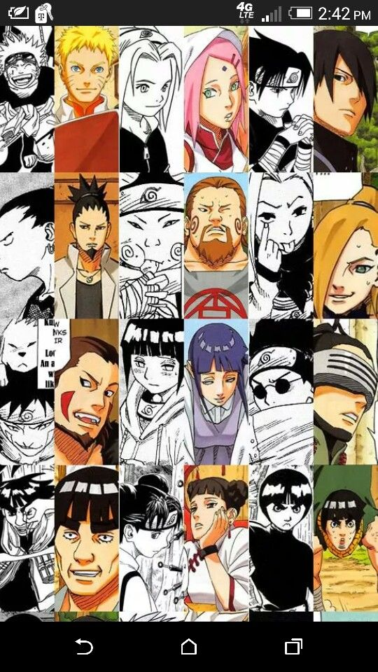 Naruto Characters First And Last Apperances I Love This With
