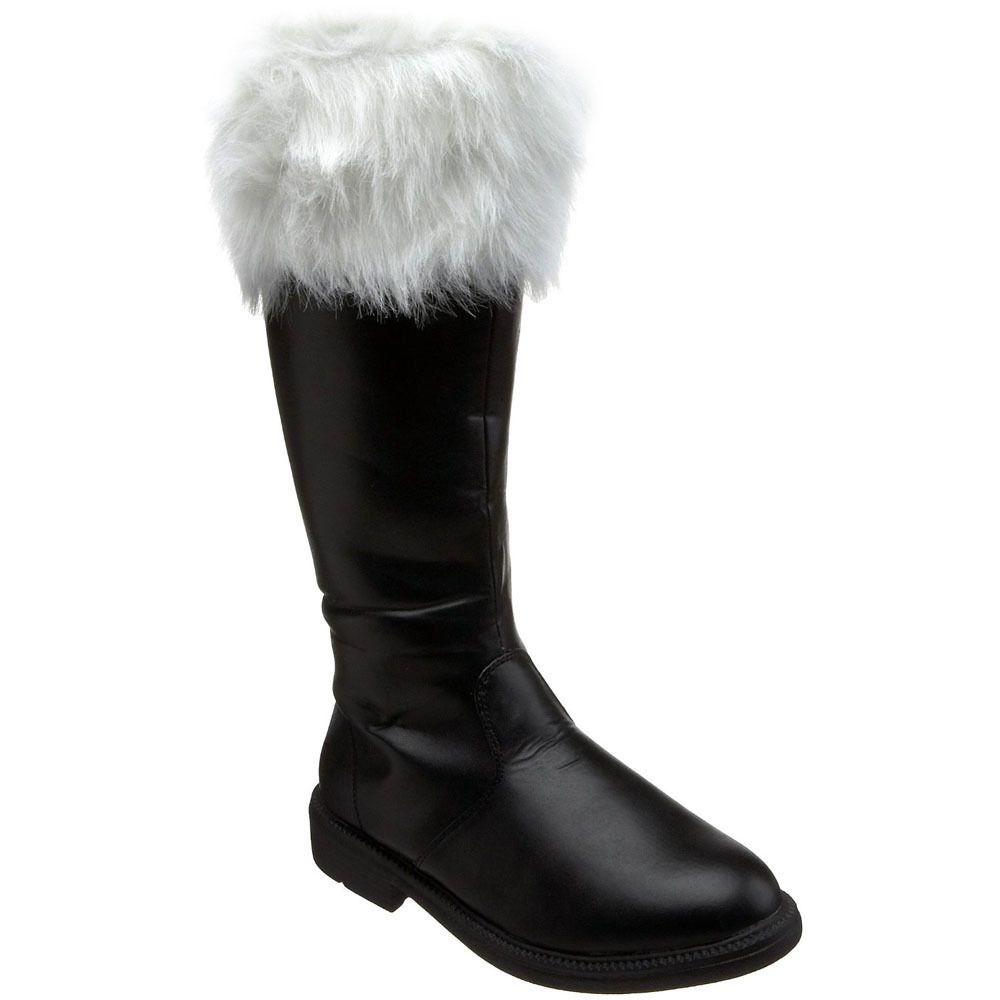 7cf073d3bbcd Funtasma Men s  Santa-108  Black Knee-high Fur Collar Boots ...