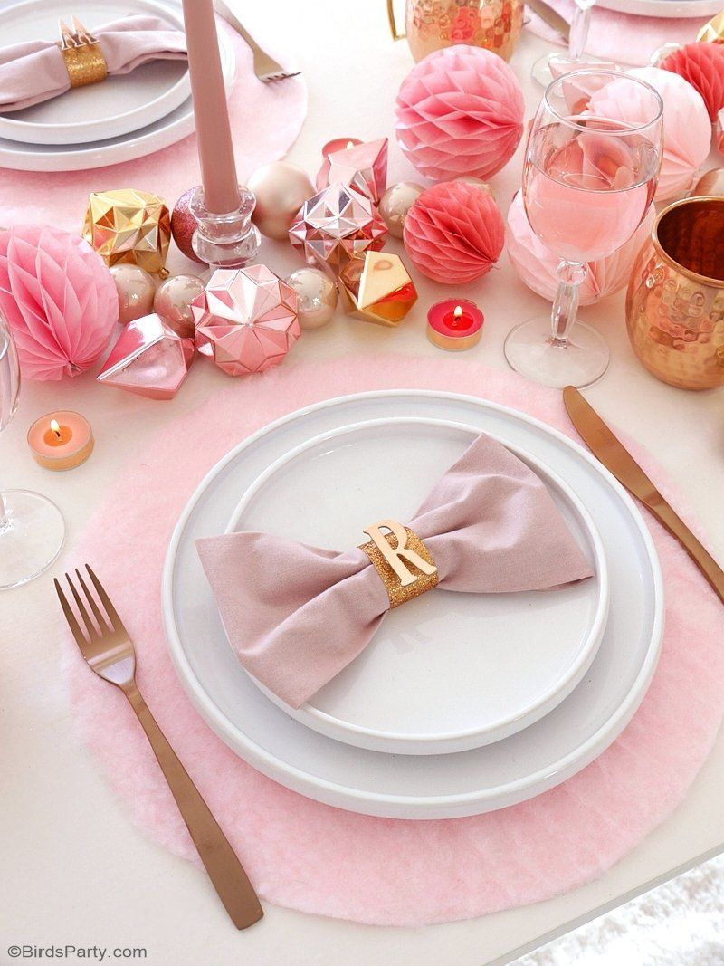 My Pink Copper Christmas Party Copper Christmas Pink Christmas Table Pink Placemats