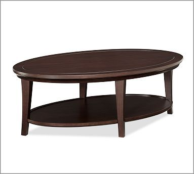 Metropolitan Oval Coffee Table Potterybarn This Is Not