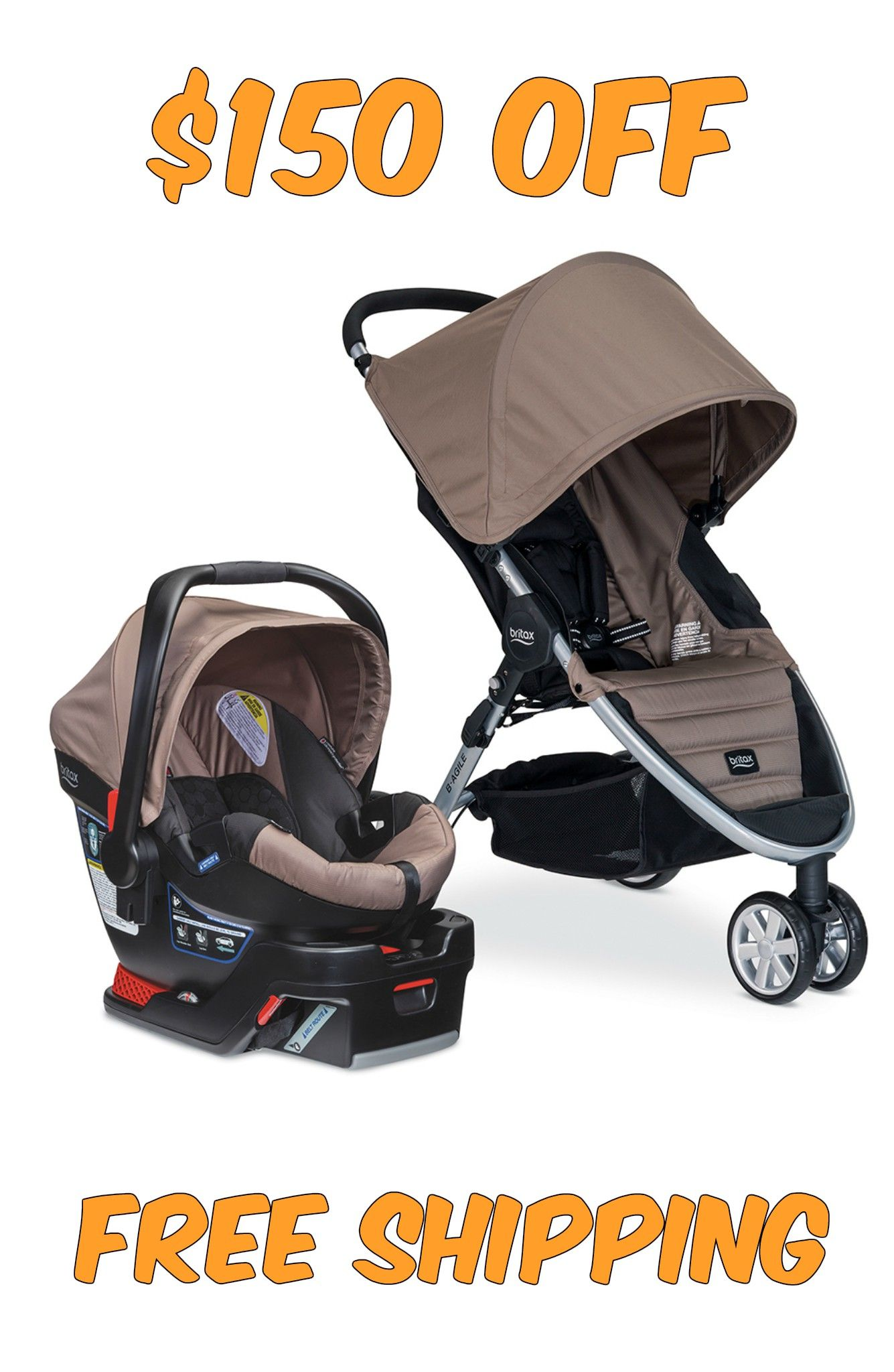 Britax BAgile/BSafe 35 Travel System Stroller ONLY 199