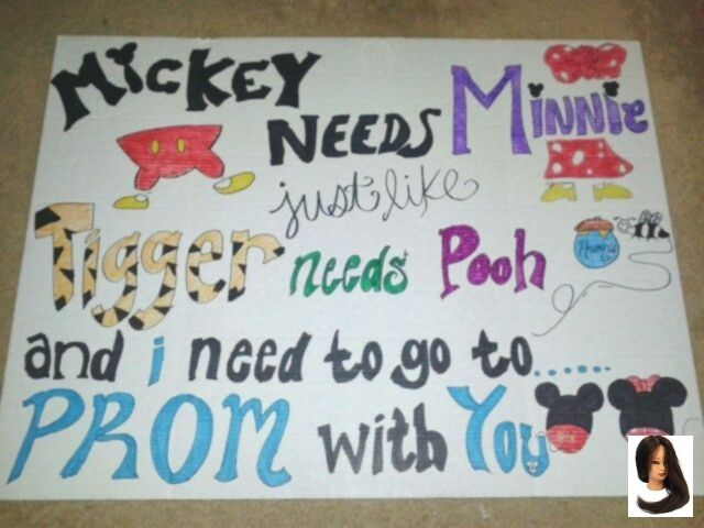 Ways to ask a guy to prom. Disney style. By Elise Arias. (: #prompicturescouples #promproposal