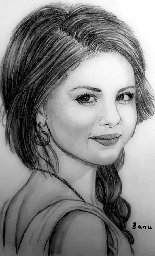 Селена гомес картинки с карандашом