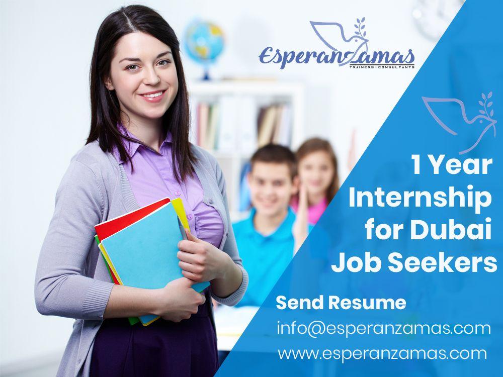 1 Year Internship for Dubai Job Seekers Send Resume info
