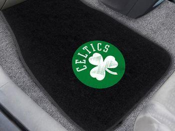 "NBA - Boston Celtics 2-pc Embroidered Car Mat Set 17"""" X 25.5"""""