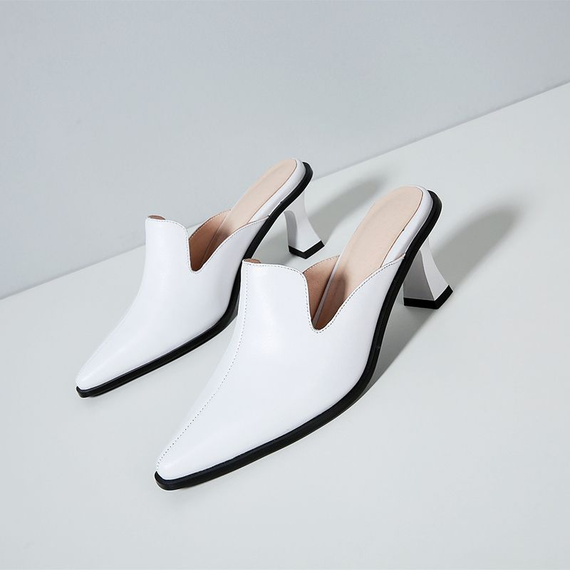 Chiko Onfalia Kitten Heel Bow Mules Heels, Fashion shoes