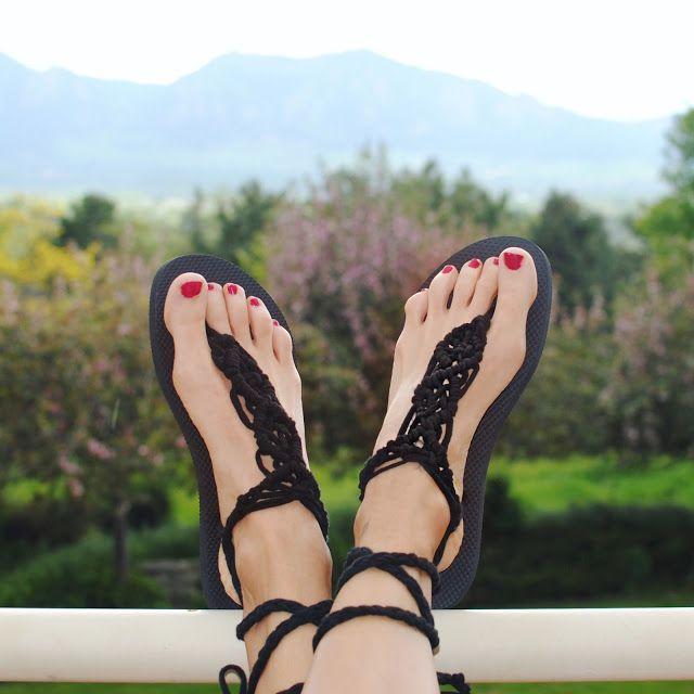 Diy Macrame Gladiator Sandal Diy Barefoot Sandals Trash To