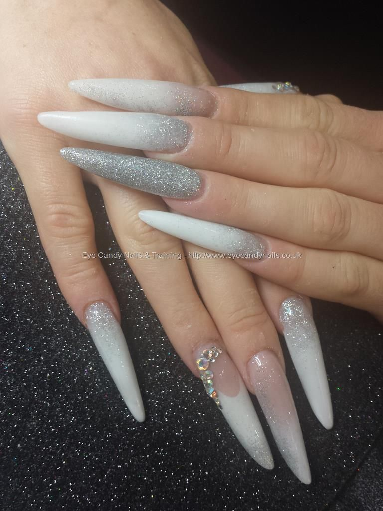 Extra long russian almonds with swarovski crystals | Nails ...