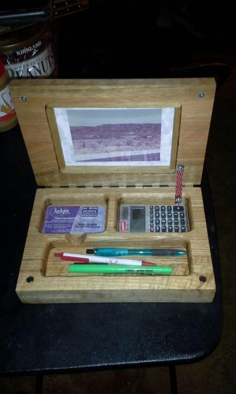 Wood Note Book Style Desk Set Desk Organizer With Name Plate And A
