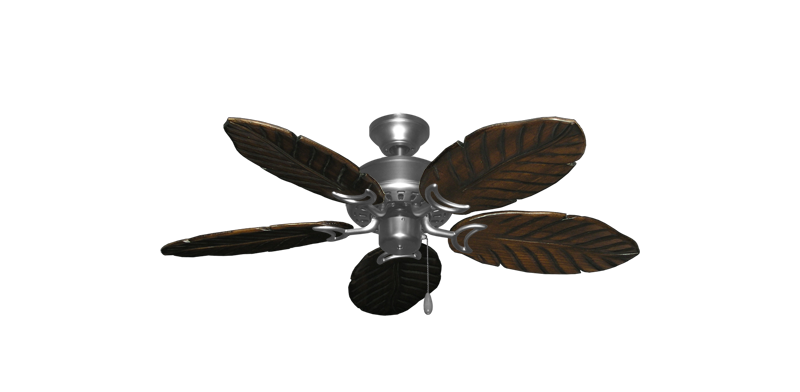 42 Dixie Belle Tropical Ceiling Fan Satin Steel Finish With Series 150 Arbor