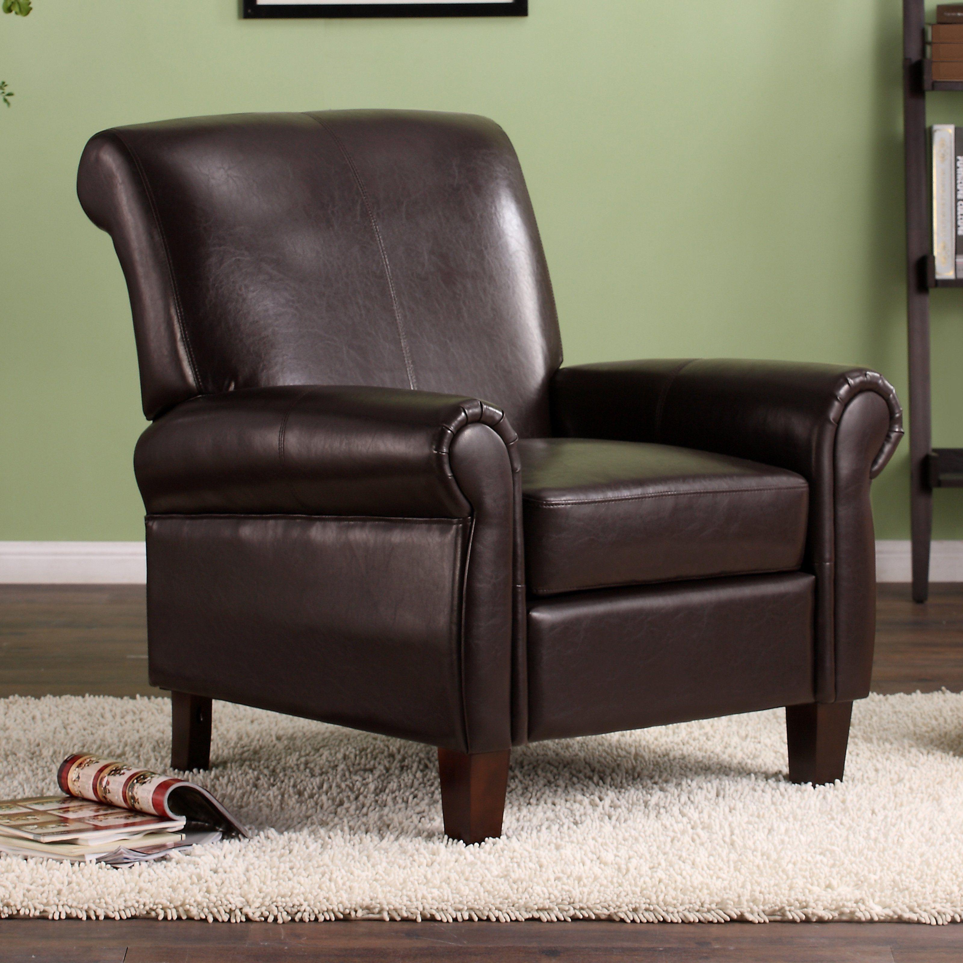 Dorel Living Faux Leather Club Chair Dorel Living Leather Club Chairs Leather Accent Chair
